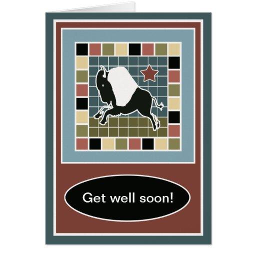 La teja de mosaico del búfalo consigue la tarjeta