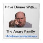La teja enojada de la familia