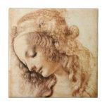 La teja principal de la mujer de da Vinci