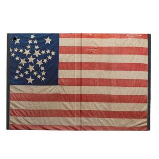 La tela de la bandera del vintage protagoniza las