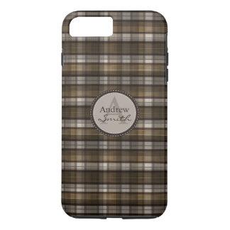 La tela escocesa clásica de Brown resuelve Funda iPhone 7 Plus