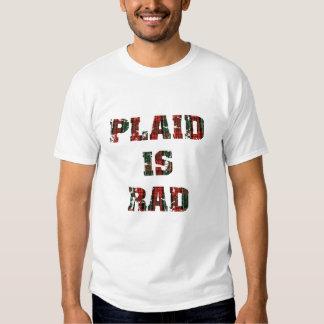 La tela escocesa es Rad Camisas