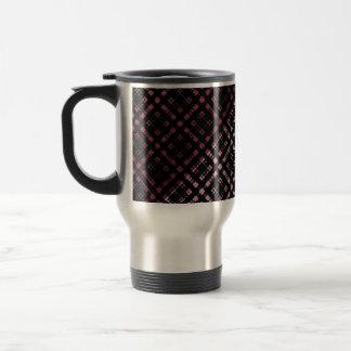 La tela escocesa moderna del rosa y del negro taza térmica