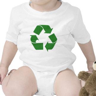 la tela escocesa recicla traje de bebé