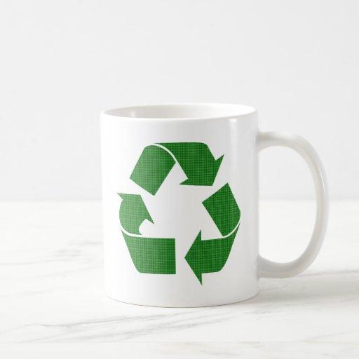 la tela escocesa recicla taza