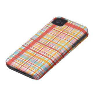 La tela escocesa roja retra comprueba la casamata Case-Mate iPhone 4 funda