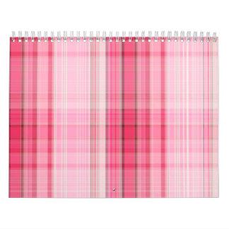 La tela escocesa rosada de muy buen gusto se calendarios de pared