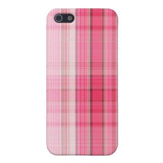 La tela escocesa rosada de muy buen gusto se rubor iPhone 5 carcasas