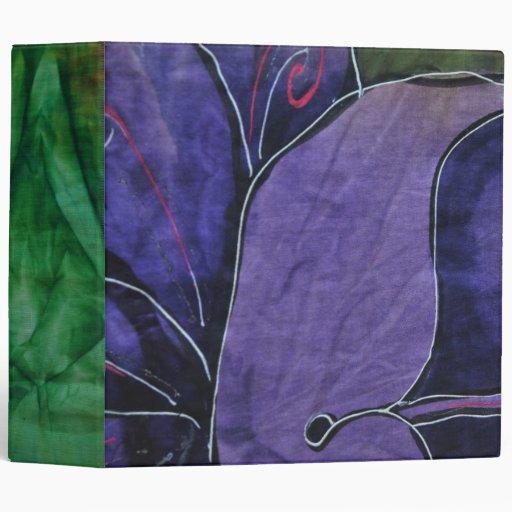 La tela exótica florece la carpeta
