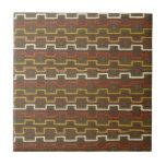 La tela texturiza el modelo de zigzag retro 70s de teja
