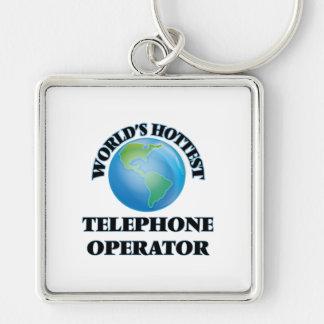 La telefonista más caliente del mundo llavero personalizado