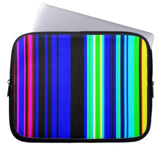 La televisión colorida raya el papel pintado funda portátil