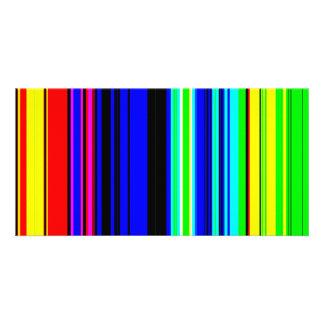 La televisión colorida raya el papel pintado tarjetas fotográficas