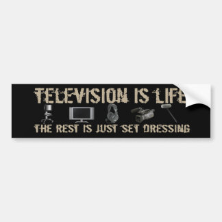 La televisión es vida pegatina de parachoque