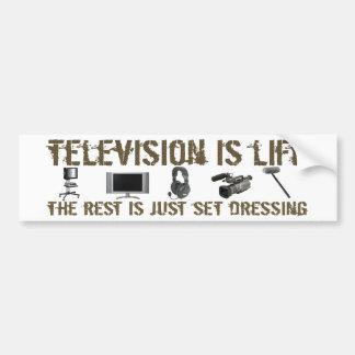 La televisión es vida pegatina para auto