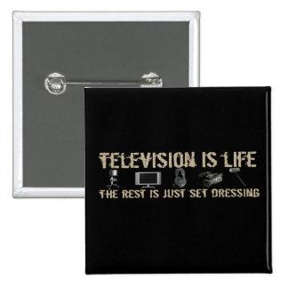 La televisión es vida pin