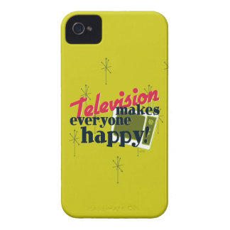 ¡La televisión hace cada uno feliz! Oro de la Case-Mate iPhone 4 Protectores