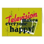 ¡La televisión hace cada uno feliz! Tarjeta
