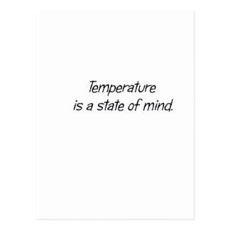 La temperatura es un estado de ánimo postal