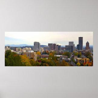 La temporada de otoño de Portland Oregon colorea e Póster