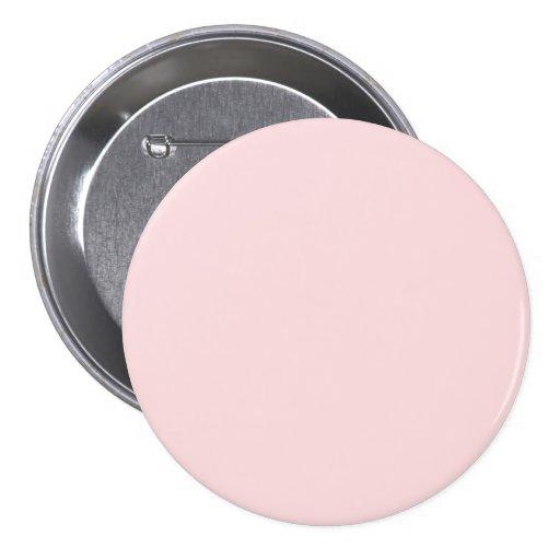 La tendencia rosada amelocotonada más ligera 2014 pin redondo de 3 pulgadas