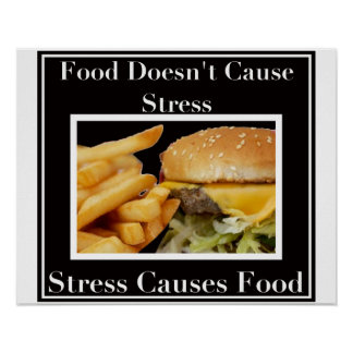 ¡La tensión causa la comida! Póster