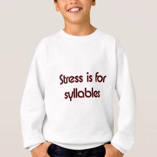 La tensión está para las sílabas sudadera