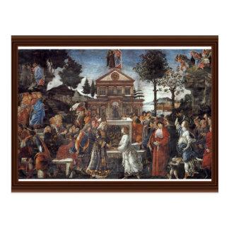 La tentación de Cristo de Botticelli Sandro Tarjeta Postal