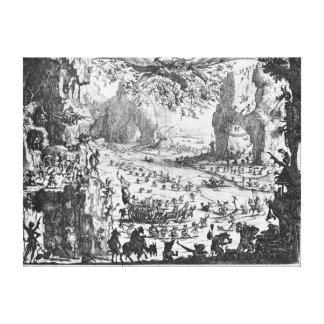 La tentación de St Anthony 2 Impresión En Lona Estirada