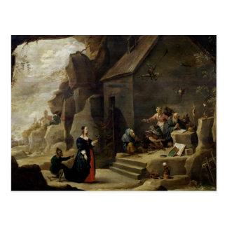 La tentación de St Anthony 2 Tarjetas Postales