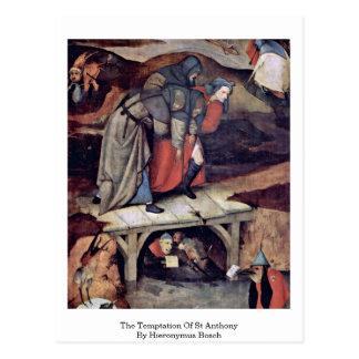 La tentación de St Anthony de Hieronymus Bosch Tarjetas Postales