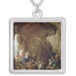 La tentación de St Anthony en una caverna rocosa Pendiente Personalizado