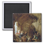 La tentación de St Anthony en una caverna rocosa Imán Para Frigorifico
