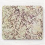 La tentación de St Anthony (grabado) Alfombrilla De Raton