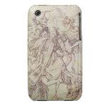 La tentación de St Anthony (grabado) Carcasa Para iPhone 3