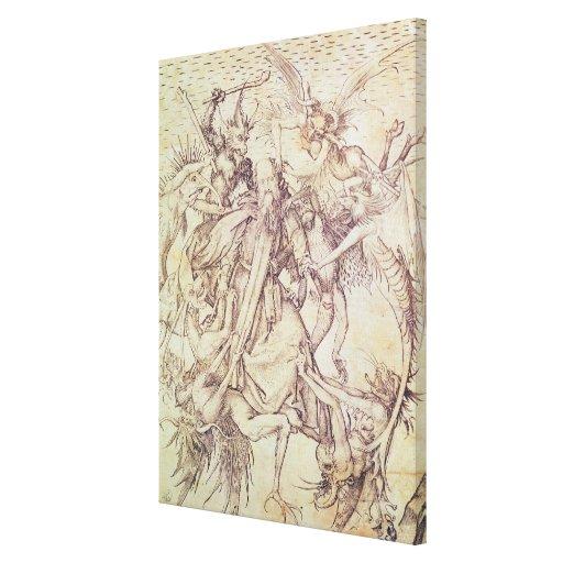 La tentación de St Anthony (grabado) Impresión En Lienzo