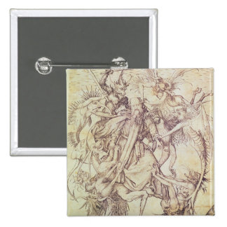 La tentación de St Anthony (grabado) Pins