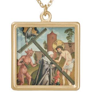 La tentación de un santo grimpola personalizada