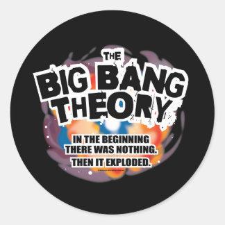 La teoría de Big Bang Pegatina Redonda