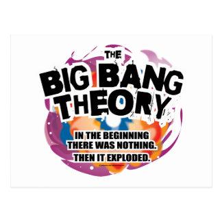 La teoría de Big Bang Postales
