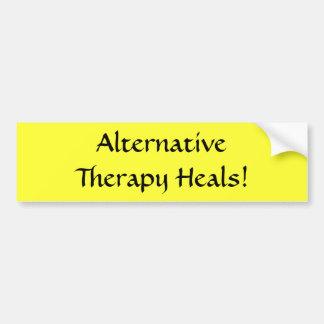 ¡La terapia alternativa cura! - pegatina para el p Pegatina Para Auto
