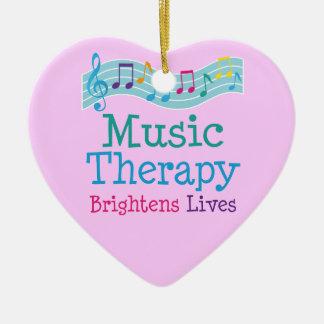 La terapia de música aclara vidas adorno de cerámica en forma de corazón