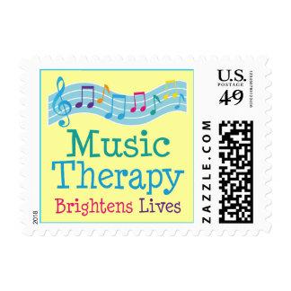 La terapia de música aclara vidas sello postal
