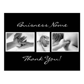 La terapia del masaje le agradece cardar tarjeta postal