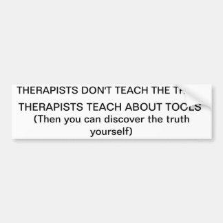 la terapia enseña sobre las herramientas pegatina para auto