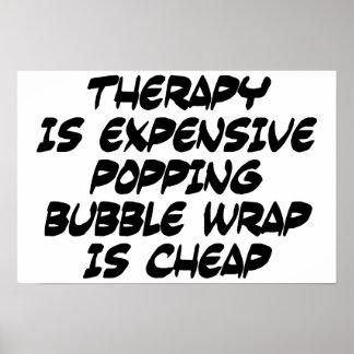 La terapia es costosa impresiones