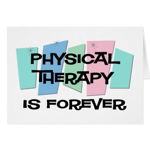 La terapia física es Forever Tarjetón