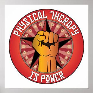La terapia física es poder posters