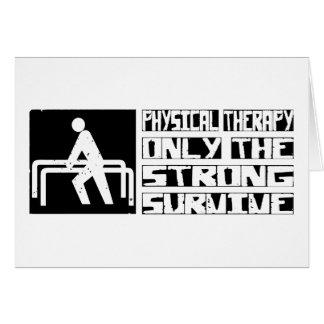 La terapia física sobrevive tarjeta de felicitación