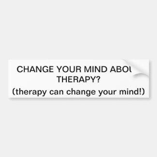 La terapia puede cambiar su bumpersticker de la me pegatina para auto